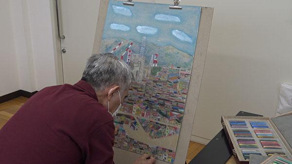バーミリオンパステル画会 練習風景